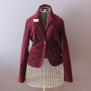 ❗️⬇️AE Burgundy Velvet blazer
